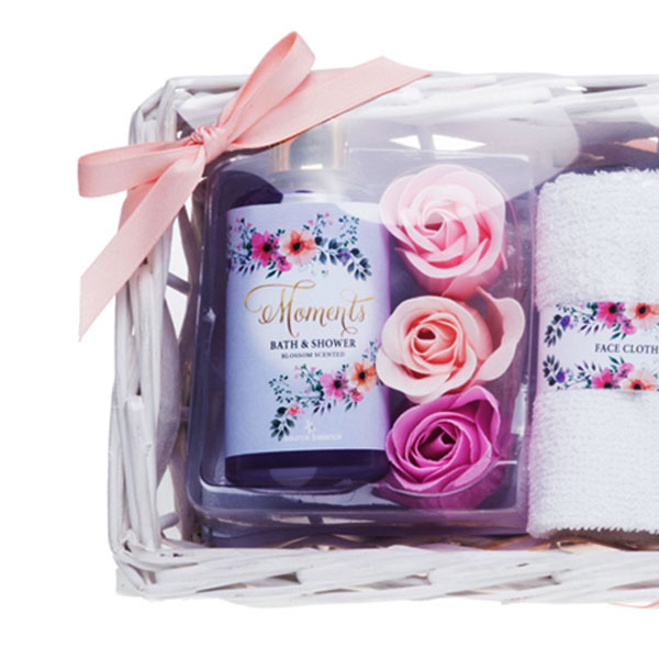 Bathroom gift set with body care products